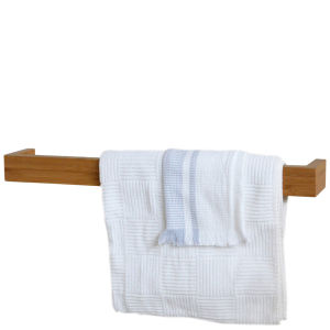 Wireworks Bamboo Single Towel Rail (60cm)