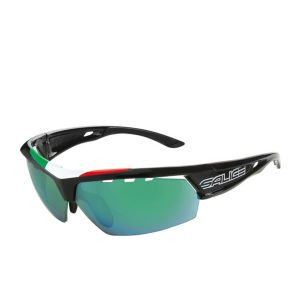 Salice 005 ITA Sports Sunglasses - Black/Mirror Lens