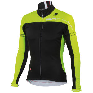 Sportful Men's Bodyfit Pro Windstopper Jacket - Black/Yellow