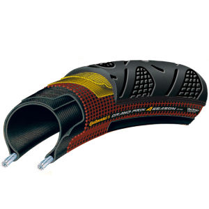 Continental Grand Prix 4Season Clincher Road Tyre Black 700c x 23mm + FREE Inner Tube