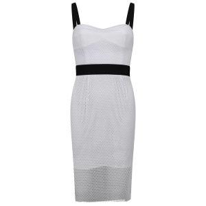 MILLY Women's Bustier Strap Dress - Black/White