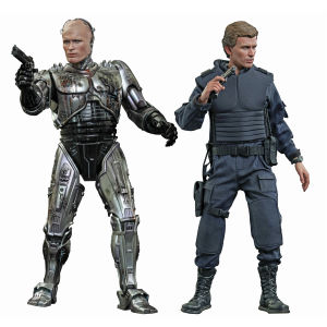 Hot Toys Robocop Battle Damaged Version and Alex Murphy 1:6 Scale Figure Set