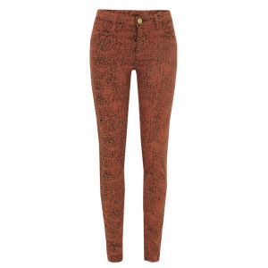 Shine Women's Kate Maya Luggage Skinny Jeans - Orange