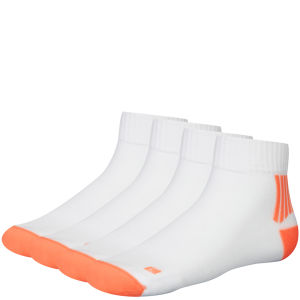 Helly Hansen Bike Elite Tech 2-Pack Socks -White/Fluo Orange