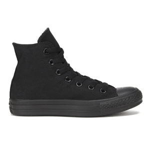 Converse Unisex Chuck Taylor All Star Canvas Hi-Top Trainers - Black Monochrome