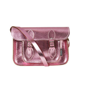 Zatchels 11.5 Inch Candy Leather Satchel - Pink