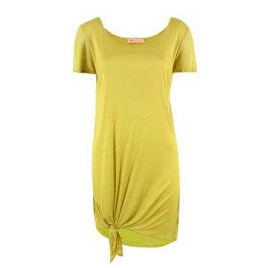 MW Matthew Williamson Women's Plain Slub Jersey Dress - Ochre