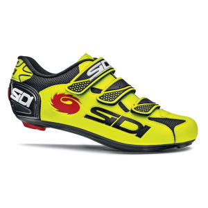 Sidi Logo Vernice Cycling Shoes - Yellow/Black 2014