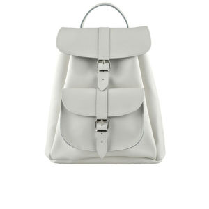 Grafea Salt Small Leather Rucksack - White