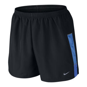 Nike Men's 5 Inch Woven Shorts - Black/Blue