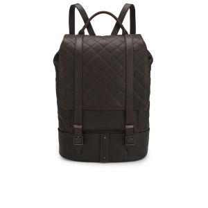 Knutsford Women's Quilted Leather Backpack - Dark Brown
