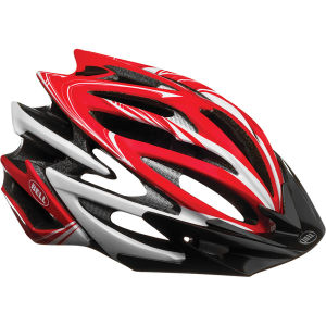 Bell Volt Cycling Helmet Red/White Script
