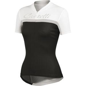 Castelli Promessa Jersey - Black/White/Silver