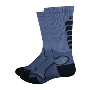 DeFeet Levitator Trail Socks - Graphite/Black