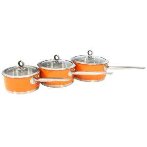 Morphy Richards Accents 3 Piece Pan Set - Orange