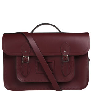 Cambridge Satchel Company 15 Inch Leather Batchel - Oxblood