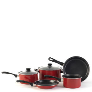 Swan 5 Piece Red Carbon Steel Cookware Set