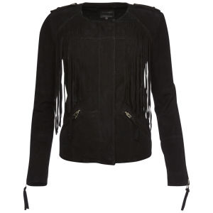 Gestuz Women's Avril Leather Jacket - Black