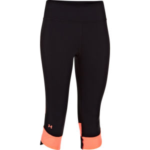 Under Armour Women's Fly By Compression Capri Tights II - Black/Brilliance/Reflective