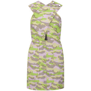 Carven Women's Camouflage Dress - Green/Pink