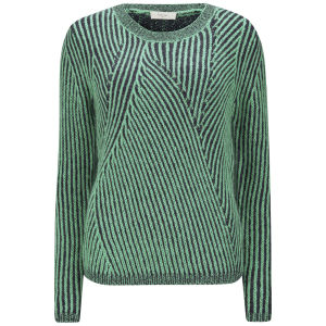 Paul by Paul Smith Women's Twisted Stripe Knit Jumper - Green