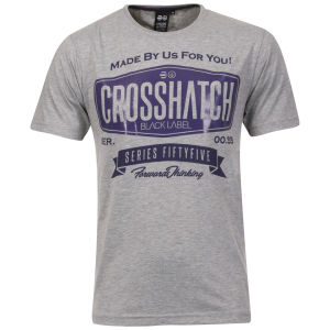 Crosshatch Men's Lipky T-Shirt - Grey Marl