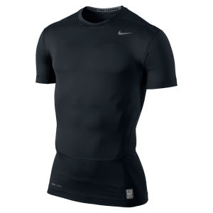 Nike Men's Core Compression SS Top - Black/Cool Grey