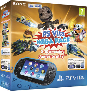 PS Vita (3G and Wi-Fi Enabled) - Includes Kids' Mega Pack + 16GB Memory Card