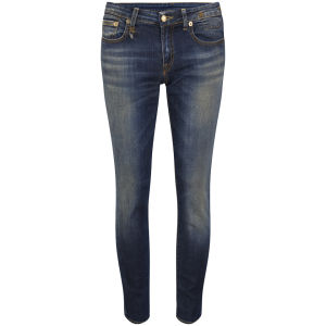 R13 Women's Kate Low Rise Cropped Skinny Jeans - Vintage Indigo