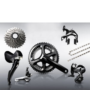 Shimano 105 5800 11 Speed Groupset - Black - 53/39