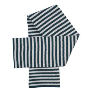 Jo Gordon Blue Striped Scarf