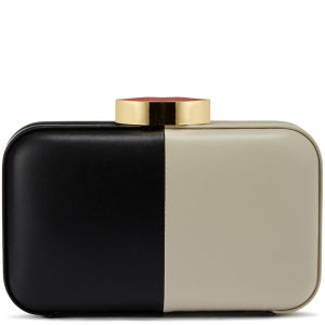 Lulu Guinness 50/50 Fifi Leather Clutch Bag - Black/Stone