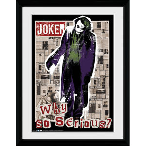 DC Comics Batman The Dark Knight Rises Why So Serious - 30x40 Collector Prints