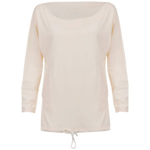 Chloe Women's Drawstring Tie Top - Cream