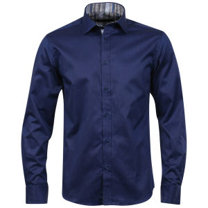 Jack & Jones Men's Andrew Multi Shirt - Dark Blue