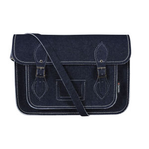 Zatchels 13 Inch Denim Satchel - Raw