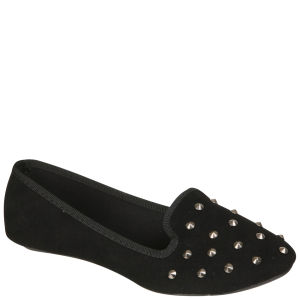 Odeon Women's Studded Slipper Shoes - Black