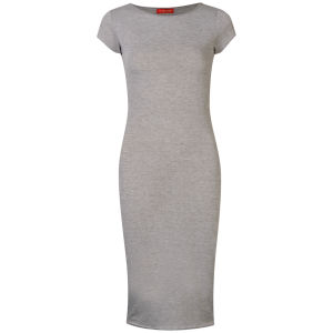 Influence Women's Midi Jersey Dress - Grey Marl