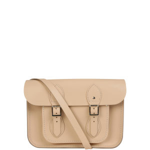 Cambridge Satchel Company 11 Inch Chelsea Collection Leather Satchel - Cream