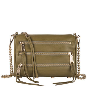 Rebecca Minkoff Mini 5 Zip Leather Clutch - Fern