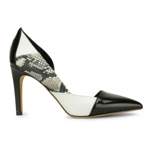 BOSS Hugo Boss Women's Gea-P Snakeskin Leather Heeled Shoes - Black Snake