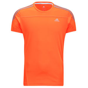 Adidas Men's Response Short Sleeve Tee Shirt - Solar Zest/Tech Grey