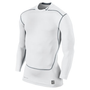Nike Men's Core Compression Long Sleeve Mock Top 2.0 - White