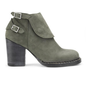 Purified Women's Petra 8 Heeled Leather Ankle Boots - Green