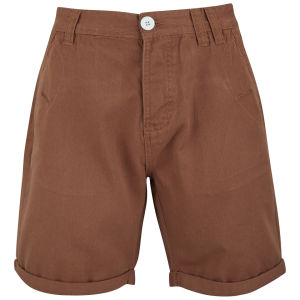 Soul Star Men's Chino Melton Shorts - Rust