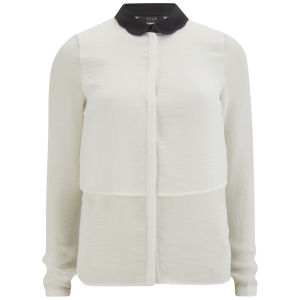 VILA Women's Vipenna Shirt - Snow White