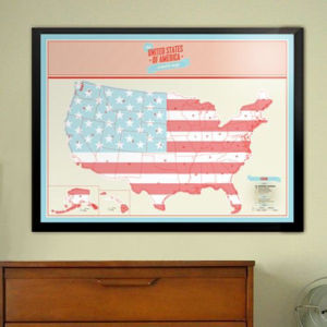 Scratch Map - USA Edition