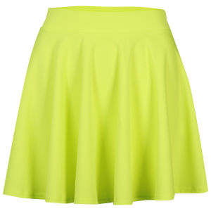 Glamorous Women's Neon Skater Skirt - Neon Yellow