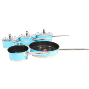 Morphy Richards Accents 5 Piece Pan Set - Blue