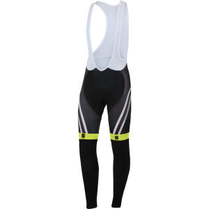 Sportful Men's Bodyfit Pro Thermal Bib Tights - Black/Yellow